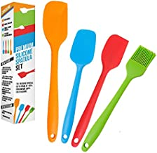 K-Brands Silicone Spatula set – Heat Resistant and Non-Stick Spatulas for Cooking, Baking and Mixing (4 Pack)