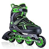 2PM SPORTS Torinx Green Black Boys Adjustable Inline Skates,...