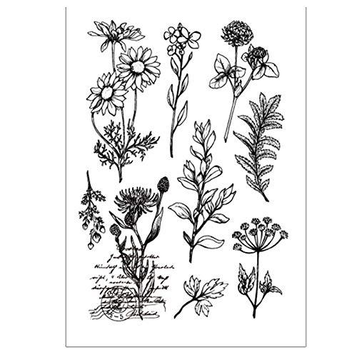 DIY Schöne Blumen Blätter Stempel Gummi Clear Stempel Stempel Scrapbook Foto Deko Karten machen Clear Stempel