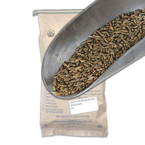 Great River Organic Milling, Whole Grain, Rye Grain, Organic, 25-Pounds (Pack of 1)