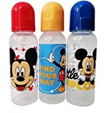Cudlie Disney Baby Boy Mickey Mouse 9 oz Pack of Three Baby...