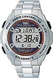 シチズン Q Q 腕時計 デジタル 電波 ソーラー 防水 日付 メタルバンド MHS7-200 メンズ シルバー