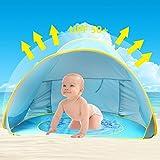 Tienda de Playa para Bebés,Oummit Pop-up Tienda de bebé con Pequeña Piscina Automática...