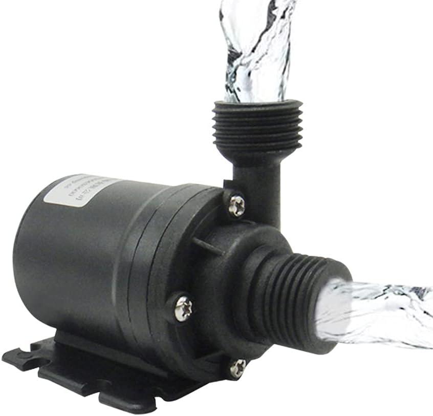 Komake Pompa per Acquario 24V, Mini Pompa Acqua Pompa Sommersa Pompa d'Acqua Nessun Rumore per Acquario, Laghetto, Giardino