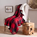 Pendleton Plaid Cotton Sherpa Throw– Soft Plush Blanket - (Rob Roy, 50' x 70')