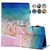 Kindle Paperwhite 1 2 3 4 Case, MonsDirect Ultra Slim PU Leather Case Cover with Smart Auto Wake Sleep for All-New Amazon Kindle Paperwhite, Fits 2012, 2013, 2015 2016 and 2018 Versions, Sea Beach
