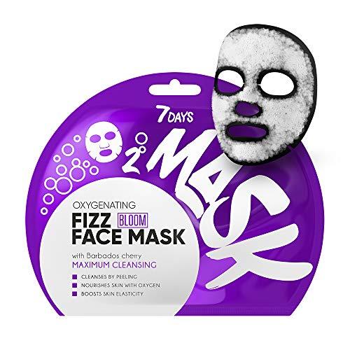 7DAYS Maschera Viso all'Ossigeno 1pz Purificazione Profonda Oxygen Detox AHA Acidi della Frutta Per la Pelle Grassa Antiossidante della Ciliegia 25g