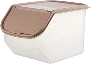 xmelug Kitchen Dry Food Storage Box Clear Kitchen Rice Storage Box Grain Cereal Dispenser Food Organizer Container for Pasta  Cereal  Rice  Pet Food and More Coffee