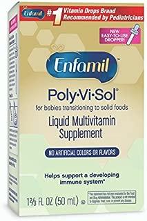 Enfamil Poly-Vi-Sol Liquid Multivitamin Supplement 50 ml (Packs of 2)