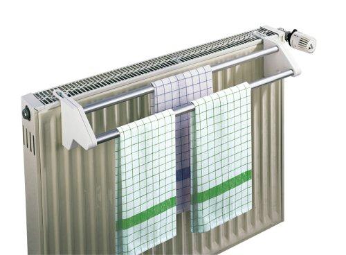 WENKO Heizkörper-Wäschetrockner Twin, Aluminium, 60 x 13 x 11.5 cm, Aluminium