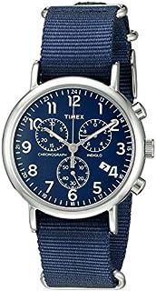 Timex Weekender Reloj con sujetador hasta la malla y cronógrafo de 40mm