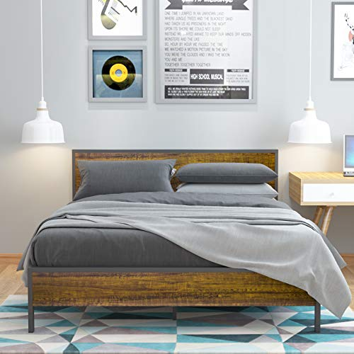 WeeHom 14 Inch Full Size Metal Bed Frame