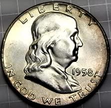 1958 P Silver Franklin Half Dollar BU