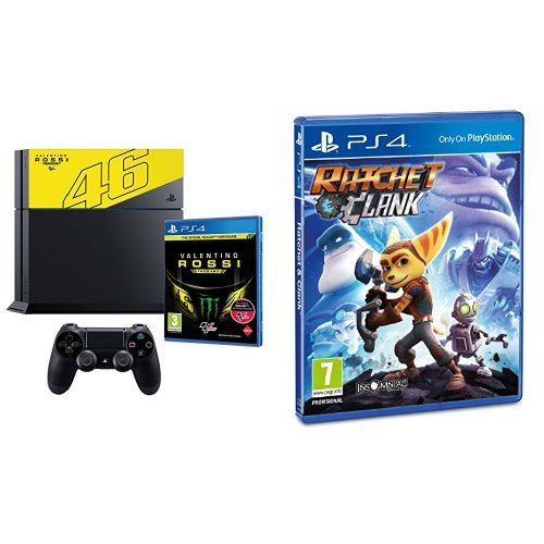PlayStation 4 1 Tb C Chassis + Valentino Rossi The Game + Ratchet & Clank
