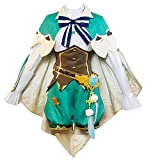 BMDHA Disfraz de Cosplay Genshin Impact Venti, Disfraz de Anime, Disfraz de Cosplay, Disfraz de Fiesta de Navidad, Conjunto Completo para niñas y Mujeres,XL