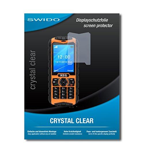 SWIDO Bildschirmschutz für AEG M550 [4 Stück] Kristall-Klar, Hoher Festigkeitgrad, Schutz vor Öl, Staub & Kratzer/Schutzfolie, Bildschirmschutzfolie, Panzerglas Folie
