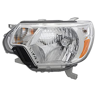 Epic Lighting OE Fitment Replacement Headlight Assembly Compatible with 2012-2015 Tacoma [ TO2502213 8115004180 ] Left Driver Side LH