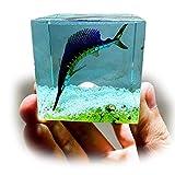 Wuhuayu Epoxi Hecho a Mano Animal Marino pez Espada pez Espada pez Vela Adornos de Resina de Cristal decoración de Coche Regalo de cumpleaños Creativo