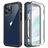 AICase Compatible with iPhone 12/Compatible with iPhone 12 Pro Case (2020) Built-in Screen Protector, Full Body 360 Rugged Dual Layer Heavy Duty Clear Protective Phone Case, Shock Proof Cover