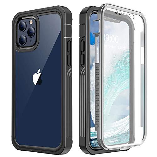Cover iPhone 12 Pro iPhone 12 Case Custodia iPhone 12 Pro 12 [Thin Fit 360] Caso Protezione esatta Slim con Proteggi Schermo Hard PC Custodia Antiurto Cover per iPhone 12 Pro 12 6.1
