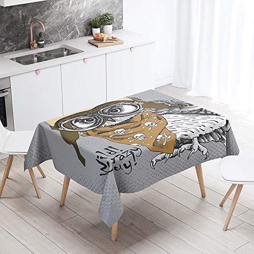 Enhome Manteles de Poliester Rectangular Mantel Rectangular Impermeable Antimanchas Nordico Moderno Mantel Decorativo para mesas rectangulares Cocina Comedor (Pelo canoso,90x90cm)