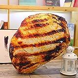 Yener Real Life Chicken Leg Toy Pulcino Pesce alla griglia Maialino da Latte Gamberetti Salsiccia arrosto Cuscino Cuscino Regalo di Compleanno, braciole di Maiale 60 cm