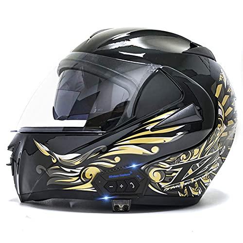 Casco de motocross para adultos, casco de motocicleta de cara completa para hombres, cascos de moto para jóvenes, protección (color negro brillante 1, tamaño: L (59)
