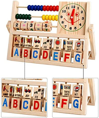 Children Baby Kids Learning Math Developmental Versatile Flap Abacus Wooden Toys New product image