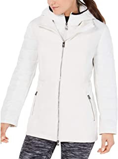 Performance Quilted-Sleeve Soft-Shell Walker Jacket White Medium