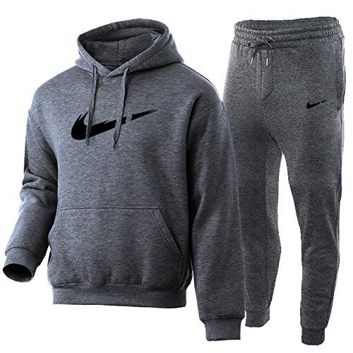 Suéter de baloncesto para hombre, otoño e invierno, más terciopelo suelto, sudadera, 2 piezas de ropa deportiva de algodón puro C3-XXXL