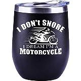 Motorcycle Gifts For Men | Harley Davidson | Grandpa | Women | Christmas Gifts | Dad | Husband | Boyfriend | Funny Wine Glass