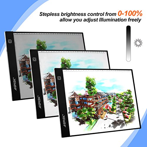 Fixm A4 Light Box, Ultra-thin Portable USB Power Cable Dimmable Brightness LED Artcraft Tracing Light Pad Drawing Light Board Table Animation, Sketching, Designing, Stencilling Diamond Painting