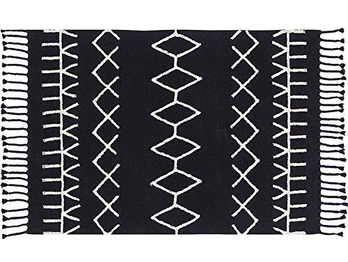 Lorena Canals 1703496031 - alfombra black&white bereber negro 140x200 cm