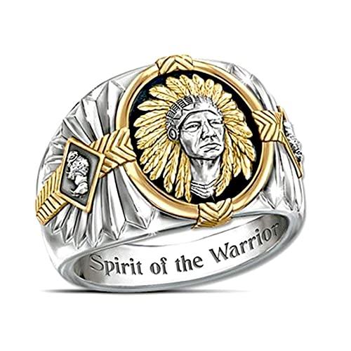 ZZBB Hip Hop estilo Viking Warrior anillo femenino de dos colores