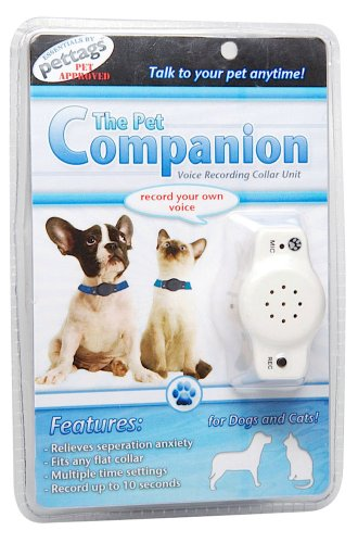 Pet Companion Voice Recording and Playback Device, One Size Fits All, White