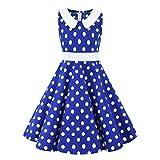 Livoral 2019 Surprise Kinder Teen Kinder Mädchen Vintage 1950er Jahre Retro ärmellose Blumendruck lässige Kleidung(Blau,Medium) …