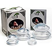 Ancient Wisdom Cupping Therapy Set (4 Sizes) with Instructions Booklet. Premium BPA-Free Chinese Silicone Cups for Massage and Anti Cellulite with Pouch Included