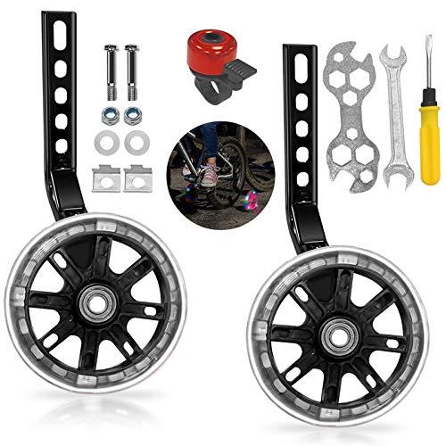 Xionghonglong Stabilizzatore rotelle,Stabilizzatori per Bicicletta,Ruote Ausiliarie per La Bicicletta,Rotelle Universali per Bicicletta,Ruote Laterali Bici Bambino