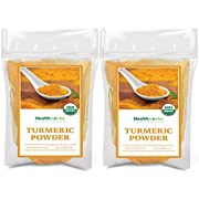 Healthworks Turmeric Powder (16 Ounces / 1 Pound) (2 x 8 Ounces Bags) | Ground Raw Organic | Curcumin & Antioxidants | Keto, Paleo, Vegan, Non-GMO | Anti-Inflammatory