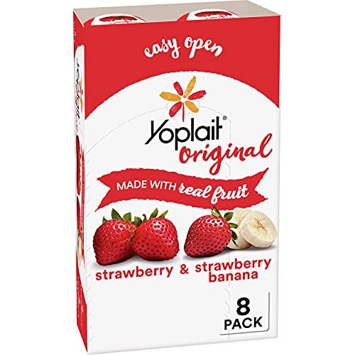 Yoplait Original Yogurt, Strawberry and Strawberry Banana, Variety Pack, 6 oz, 8 ct