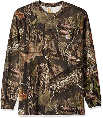 Carhartt Men's Workwear Graphic Camo Long Sleeve T Shirt, Mossy Oak Break, 2X-Large