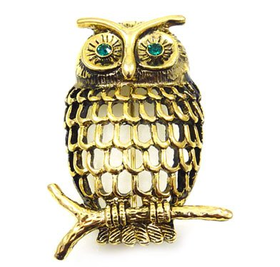 Brooches Store Antique Gold Filigree Owl Brooch