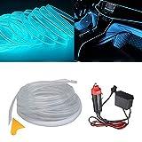 El kit de alambre del alambre Luces de coche Luces LED con interior frío Decoración del coche Atmósfera Tubos de neón redondos...