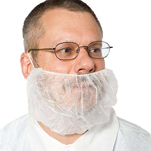 Lifesoft 200 Pack Beard Covers Protector, Disposable Bouffant Beard nets