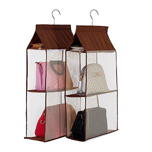 Detachable 6 Compartment Organizer Pouch Hanging Handbag Organizer Clear