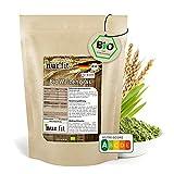 nur.fit by Nurafit BIO Weizengras Pulver 250g - rein natürliches Pulver aus Weizengras ohne Zusatzstoffe aus deutschem Anbau – Bio zertifiziertes Green-Smoothie-Pulver