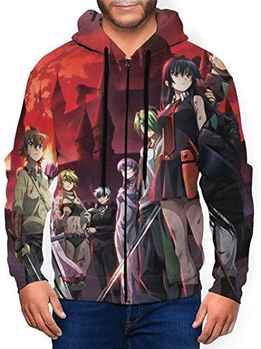 IGJMOD Akame Ga Kill Men's Anime Sweatshirt 3D Print Zip Sweatshirt