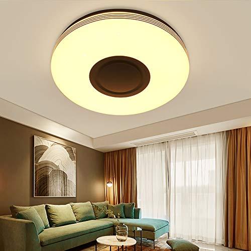 Luz de techo LED inteligente, luz de techo circular con altavoz de música Tendlife, compatible con lámpara de control de aplicación Bluetooth, para dormitorio, sala de estar, hotel