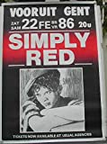 Simply Red–61x 86cm zeigt/Poster