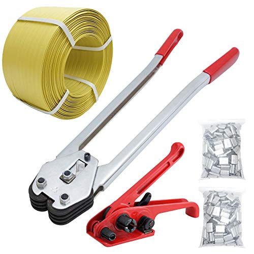 Packaging Strapping Banding Tensioning Tool - Sealer Tool Heavy Duty PP Plastic Strapping Kit Inksilvereye